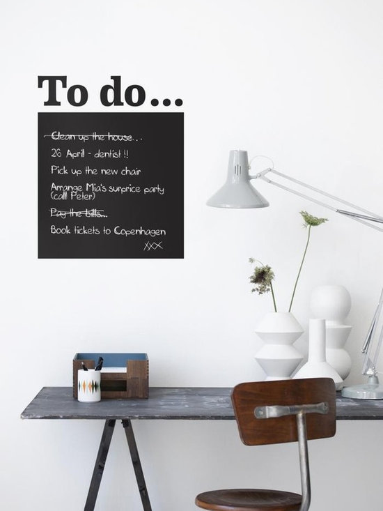 Ferm Living To Do WallSticker - With Ferm Living WallStickers it is easy to create a new look and change the style in a room in a matter of minutes. By using WallStickers, your kids can also help decorate their own room in an array of colors.