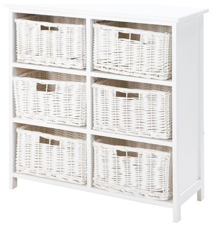 Brighton 6 Shelf Storage Unit Basket