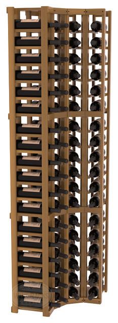 4 Column Standard Corner Kit in Redwood, Oak Stain + Satin Finish contemporary-wine-racks
