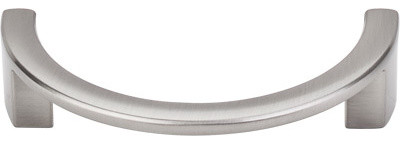 """Half Circle Open Pull 3 1/2"""" (c-c) - Brushed Satin Nickel modern-cabinet-and-drawer-handle-pulls"""