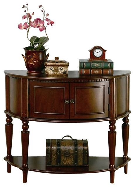 Coaster storage entryway console hall table in brown for Entrance hall console tables
