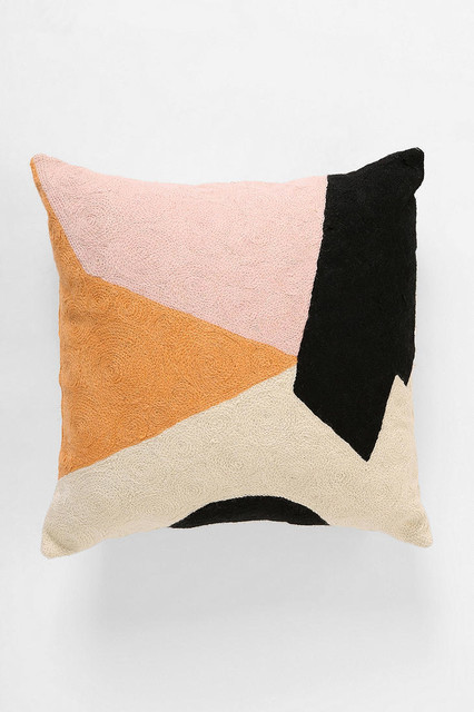 Char-Bea By Ashley G Colorblock Pillow eclectic-pillows