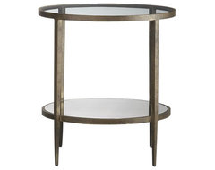 Clairemont Side Table | Crate&Barrel eclectic side tables and accent tables