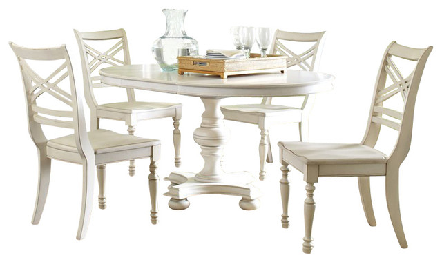 Riverside furniture placid cove 5 piece round dining table for Traditional round dining table sets