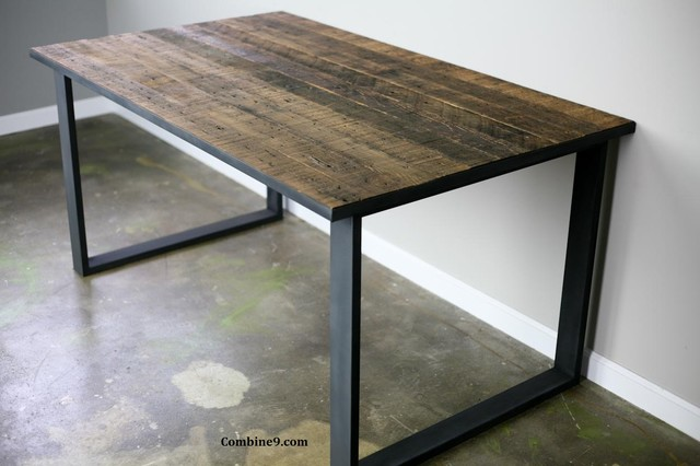 Dining Table Desk Modern Industrial Mid Century Rustic Modern
