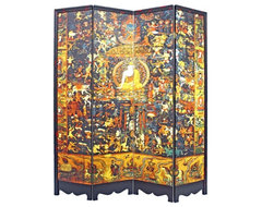 Tibetan Buddhist Pantheon Room Divider eclectic-screens-and-room-dividers