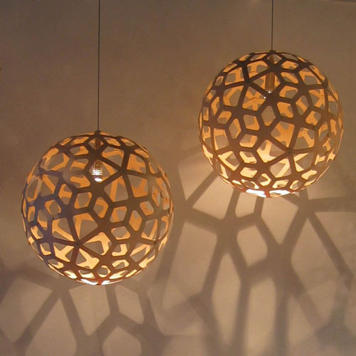 David Trubridge Coral Pendant Natural Contemporary Pendant Lighting By