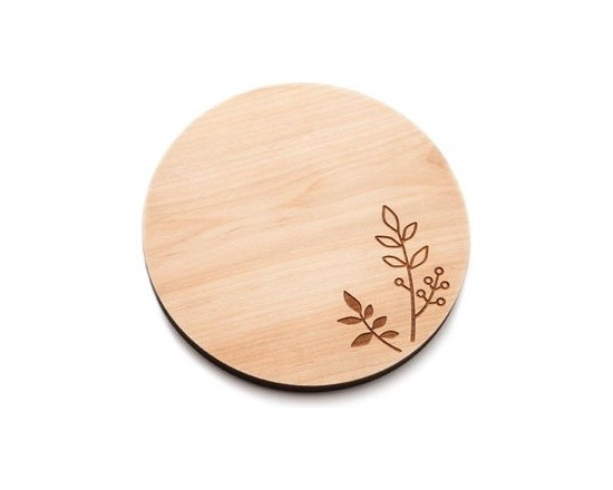 Beehive Berry Cheese Board - Perfect for entertaining, the Berry Cheese Board by Beehive is made of solid Maple and engraved with an adorable berry and leaf motif.