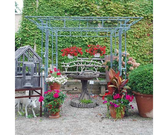 Branch Copper Pergola - This pergola almost has a pagoda like feel to it and would be a great accent to any patio space.