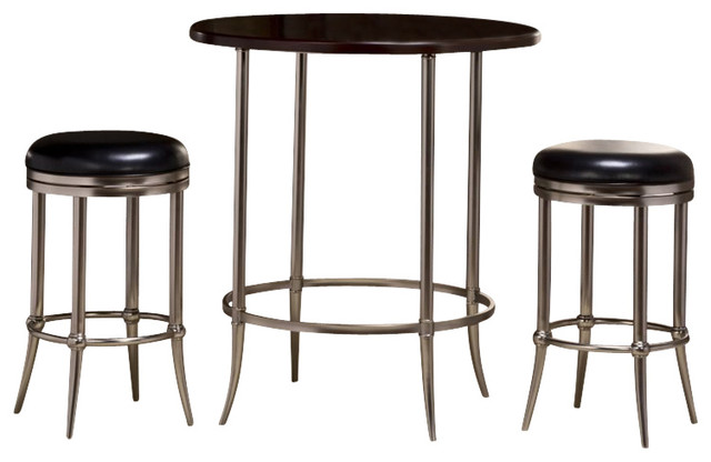 Hillsdale Maddox Bar Height 5 Piece Bistro Set in Espresso  : transitional indoor pub and bistro sets from www.houzz.com size 640 x 416 jpeg 44kB