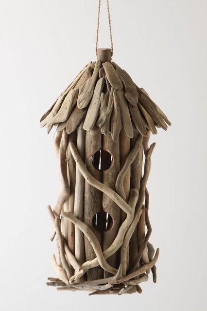 Driftwood Birdhouse beach-style-birdhouses