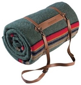 Leather Blanket Carrier contemporary-home-decor
