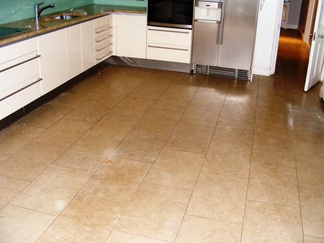 Limestone tile modern-wall-and-floor-tile