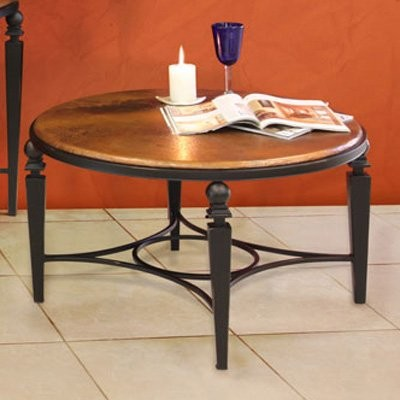 Artisan Tribecca Round Copper Coffee Table contemporary-side-tables-and-end-tables
