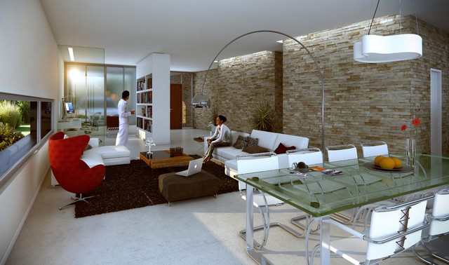 XS House contemporary-rendering