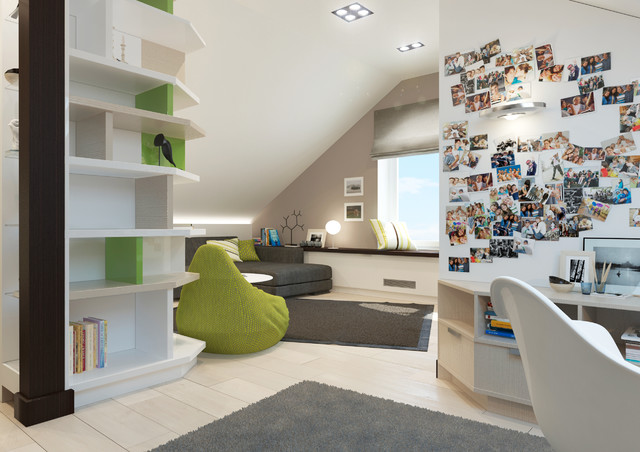 Townhouse project in Minsk contemporary-rendering