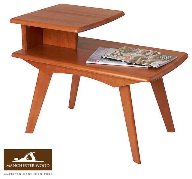 End Table By Manchester Wood Midcentury Side Tables And End Tables