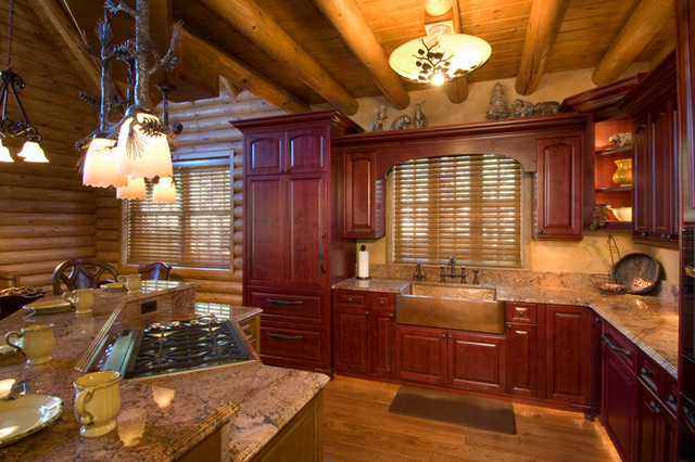 Southern Colorado Mountain Ranch traditional-kitchen