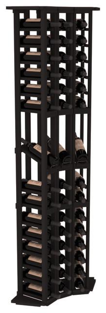 3 Column Wine Display Corner in Redwood, Black contemporary-wine-racks