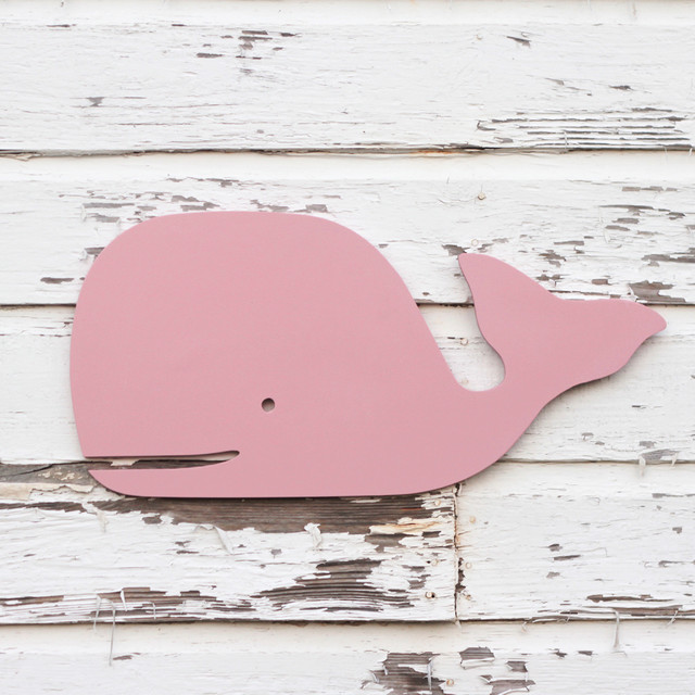 Preppy Pink Wood Wall Whale By Small Town Myrtle Brown
