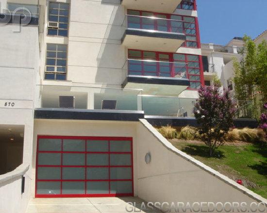 "Matching Red Glass Doors - Model: BP-450   Size: 13′ 7"" x 8′ 4-1/2 """