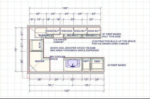 Bar height or counter height home bar for Home bar dimensions