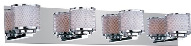 ET2 Lighting E22344-10PC 4 Light Vanity Mesh Collection contemporary-bathroom-lighting-and-vanity-lighting