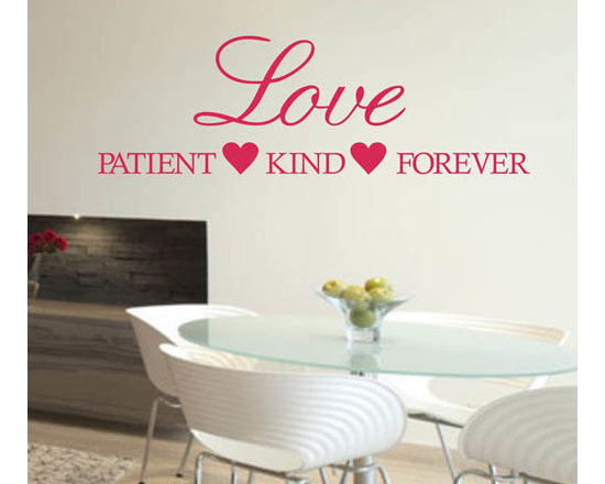 ColorfulHall Co., LTD - Window Stickers Heart With Love Patient Kind Forever - Window Stickers Heart with Love Patient Kind Forever