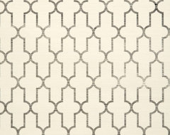 Moroccan Grasscloth Wallpaper, Black mediterranean wallpaper
