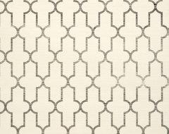 Moroccan Grass Cloth Wallpaper, Black mediterranean-wallpaper