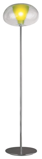 Karim Rashid Soft Apple Green Glass Floor Lamp contemporary-floor-lamps