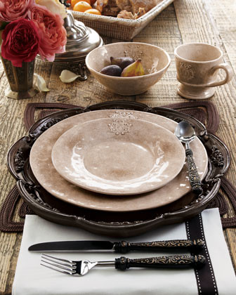 Caff Ceramiche Crest Platter traditional-serving-dishes-and-platters