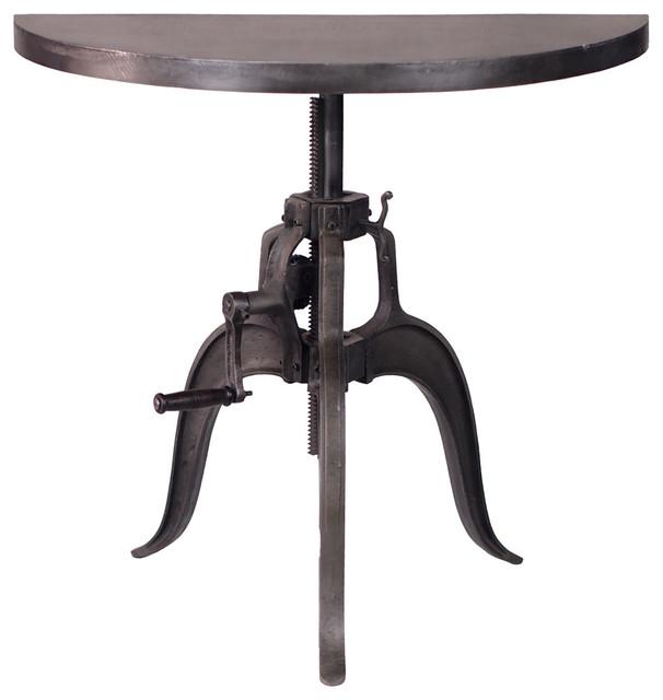 Durban industrial style half round crank table for Industrial crank table