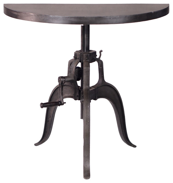 Durban Industrial Style Half Round Crank Table
