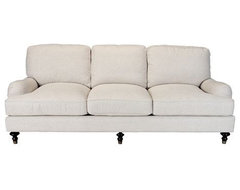 Plush English Rolled Arm Sofa traditional sofas