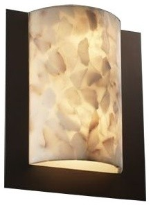 Alabaster Rocks! Framed Rectangle Wall Sconce contemporary-wall-lighting