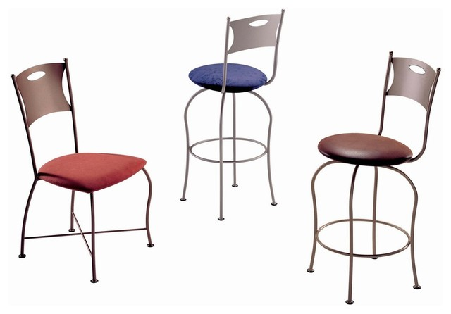 Trica Harvey Swivel Bar Stool Transitional Bar Stools