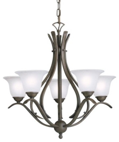 Kichler Dover Chandelier - 24W in. Tannery Bronze contemporary-chandeliers