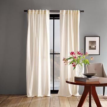 Luxe Window Panel | west elm modern-curtains