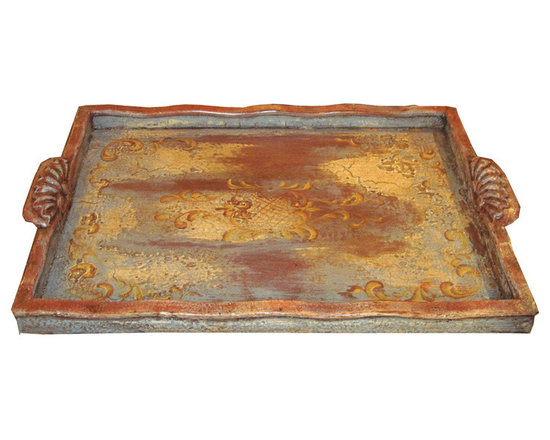 Accessory Trays - This hand crafted and hand painted accessory tray is available in a variety of finishes. See more at a local Houston showroom!