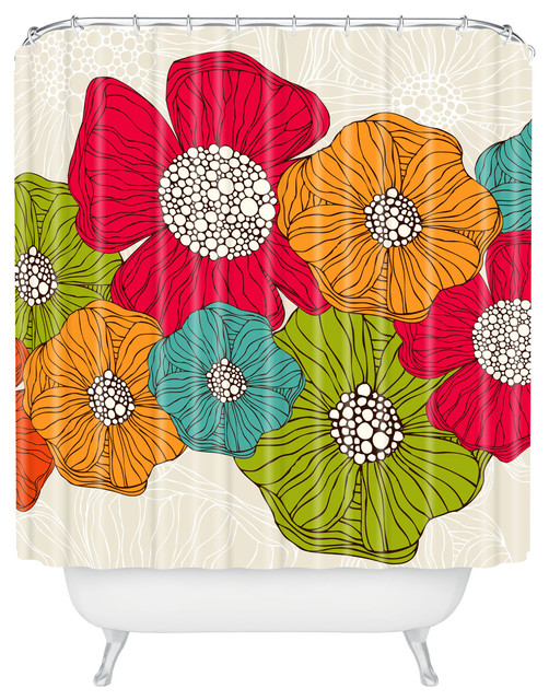 Valentina Ramos Flowers Shower Curtain contemporary-shower-curtains