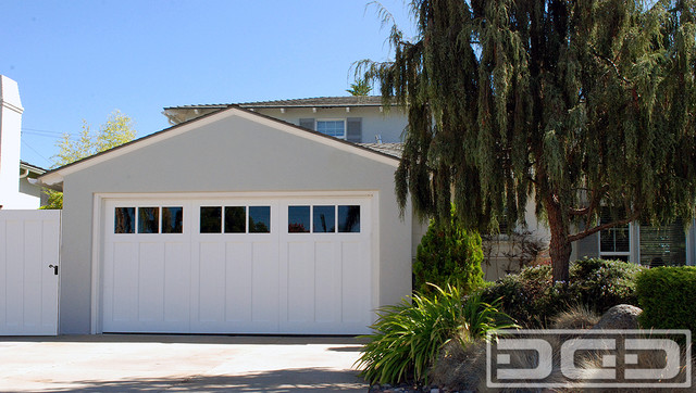 Custom Crafted ECOFriendly Garage Door in a Craftsman Style Located in San Diego - Traditional ...
