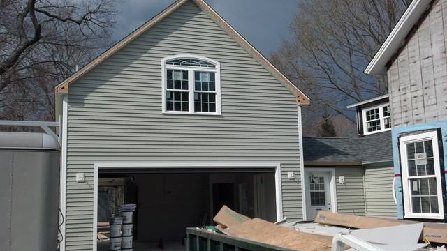 Old saybrook addition and remodel traditional-garage-and-shed