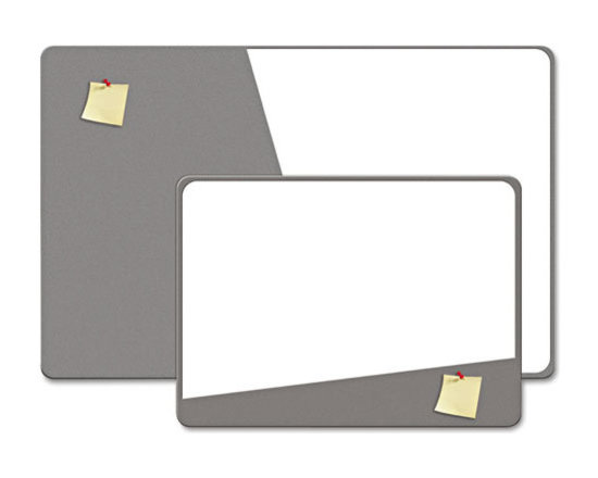 "The Board Dudes - The Board Dudes Combination Magnetic Dry Erase Foam Board, 36""x24"", Gray - Increase your presentation and communication options with this versatile board. A combination of magnetic dry-erase melamine surface and EVA foam make this multipurpose message center ideal for busy offices and homes. Dense foam offers an exceptional surface for tacking and pinning."