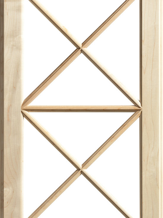 """Dura Supreme Cabinetry - Dura Supreme Cabinetry Mullion Patter #11 Accent Cabinet Door - Dura Supreme Cabinetry """"Mullion Patter #11"""" accent cabinet door shown in Maple with Dura Supreme's """"Natural"""" finish."""