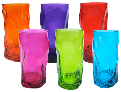 Tall Wobbly Tumblers  glassware