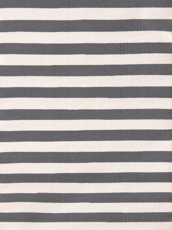 Trimaran Stripe Graphite/Ivory Indoor-Outdoor Rug -