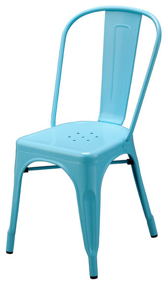 Rochelle Side Chair Light Blue Modern Dining Chairs