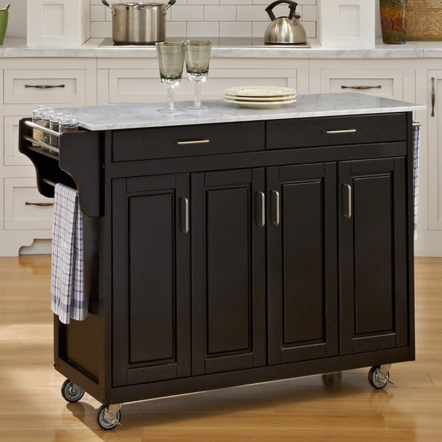 create a cart black finish with marble top contemporary