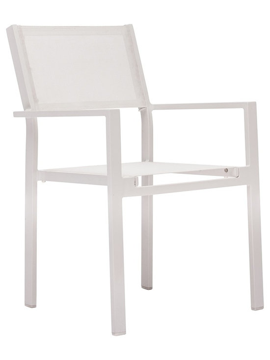 "Zuo - Zuo Silverstrand White Outdoor Chair - Contemporary outdoor armchair. White finish aluminum construction. Seat is a textile weave. From Zuo. 20"" wide. 23"" deep. 34"" high.  Contemporary outdoor armchair.   White finish aluminum construction.   Seat is a textile weave.   From Zuo.   20"" wide.   23"" deep.   34"" high."